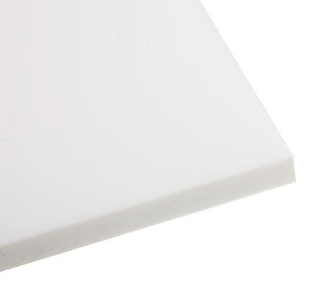 Opaque Fluoroplastics PTFE Sheet, 300mm x 300mm x 10mm