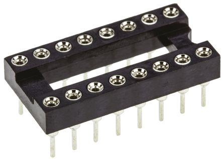 DIP 16 pin Turned Quality IC Socket DIP Pack of 2
