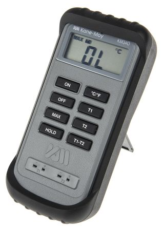 Comark KM340 Digital Thermometer, 2 Input Differential, K Type Input