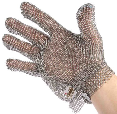 BM Polyco Metallica Stainless Steel Cut Resistant Gloves, size 8, Grey
