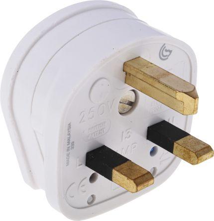 MK Electric UK Mains Plug Non-Standard MK Plug, 13A, Cable Mount