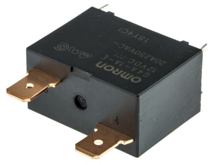 Omron SPNO Non-Latching Relay Plug In, 12V dc Coil, 20 A on