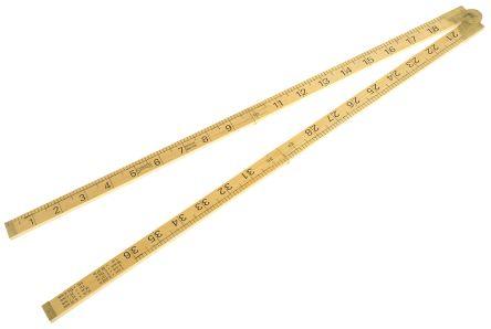 Sybren Wood Ruler Imperial or Metric 1 m, 36 in