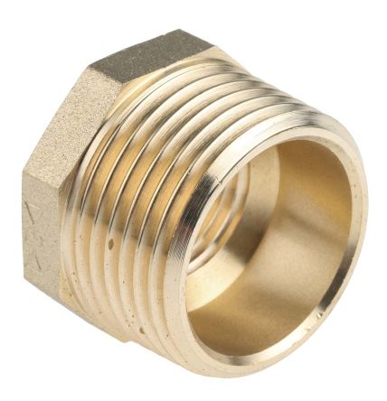 Brass 1 in BSP Male x 1/2 in BSP Female Straight Reducer Bush Threaded Fitting product photo