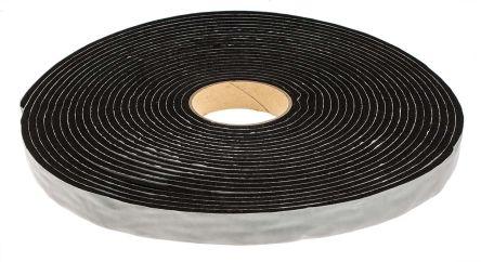 RS PRO Black Foam Tape, 6mm Thick , 25mm x 15m