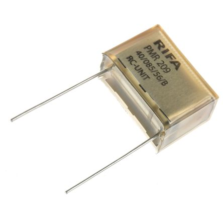 KEMET RC Capacitor 220nF 470Ω Tolerance ±20% 250 V ac, 630 V dc 1-way  Through Hole PMR209 Series
