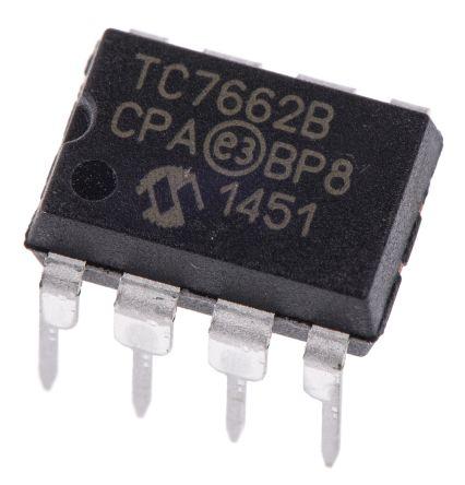 Microchip TC7662BCPA, Inverting DC-DC Converter, 20mA 8-Pin, PDIP