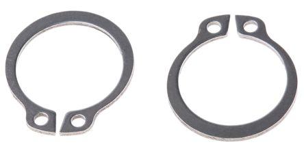 Stainless Steel External Circlip, 16mm Shaft Diameter, 15.2mm Groove Diameter product photo