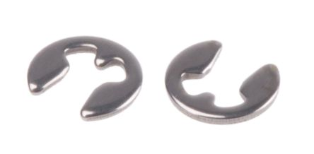 Stainless Steel E Type Circlip, 2.25mm Shaft Diameter, 1.5mm Groove Diameter product photo