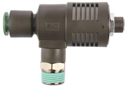 SMC Adjustable Exhaust Valve, R 3/8 Male x10mm