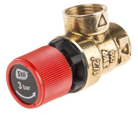 Prel101903 Reliance 3bar Pressure Relief Valve With Female Bsp 1 2 In Bsp Female Connection And A Bsp 1 2 Exhaust Port Rs Components