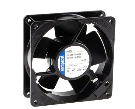 ebm-papst Axial Fan, 119 x 119 x 38mm, 160m³/h, 19W, 230 V ac (4000N Series)