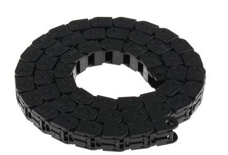 7; e-chain Black Igumid G Chain Trunking; W16.5mmxD15mm; L1m; 38mm MinBend Radius