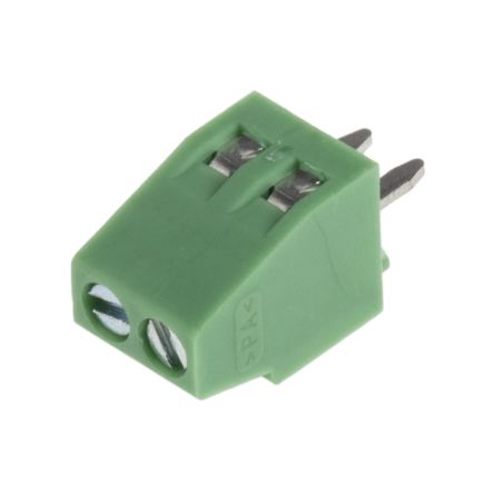 Phoenix Contact COMBICON MPT Series 2.54mm Pitch Straight, PCB Terminal Block, Through Hole, 2 Way