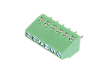 Phoenix Contact MPT 0 5/ 6-2 54, 6 Way PCB Terminal Block