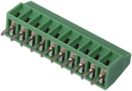 Phoenix Contact COMBICON MPT Series 2.54mm Pitch Straight, PCB Terminal Block, Through Hole, 10 Way