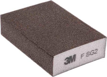 3M Aluminium Oxide Extra Fine Sanding Block 320 → 400 Grit, 100mm x 68mm x 26mm