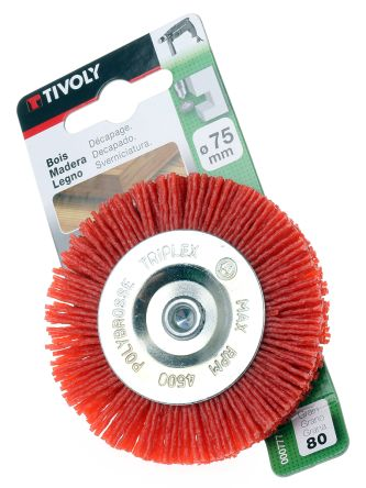 Tivoly Nylon Abrasive Circular Brush, 2500rpm, 75mm Diameter