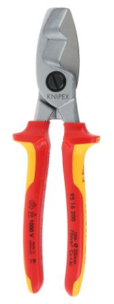 Knipex Cable Cutter Cable Shears, 20mm cutting capacity 200mm overall length