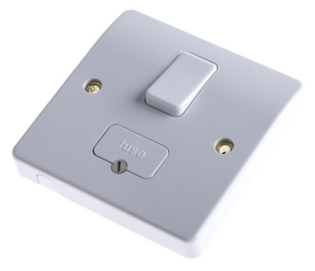 Switched Spur Flex Outlet Brushed Chrome