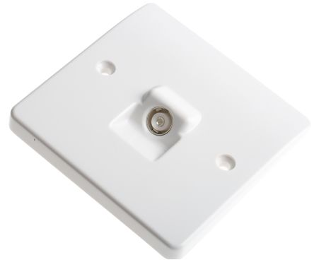 White TV/FM coaxial outlet