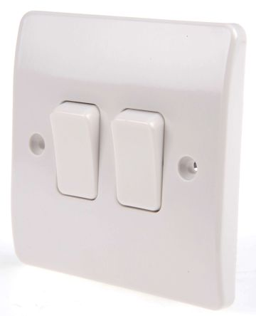 Rocker Light Switch >> White 10 A Flush Mount Rocker Light Switch Mk White 7 Mm 2 Way Screwed Semi Gloss 2 Gang Bs Standard 250 V Ac 86mm