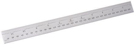 Starrett Steel Ruler, Imperial or Metric 12 in, 300 mm