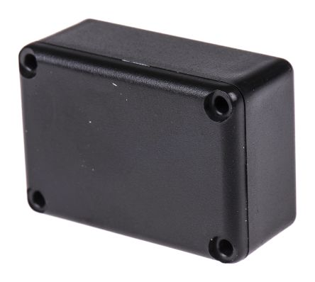 Black ABS Potting Box With Lid, 40 x 28 x 18mm product photo