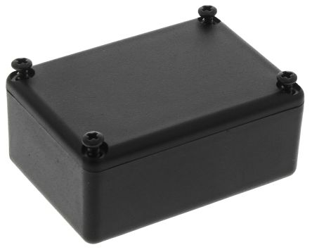 Black ABS Potting Box With Lid, 46 x 32 x 20mm product photo