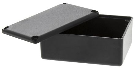 Black ABS Potting Box With Lid, 54 x 38 x 23mm product photo