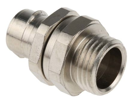 Adaptaflex Swivel Cable Conduit Fitting, Brass Silver Nickel Plated 16mm nominal size IP40 M16