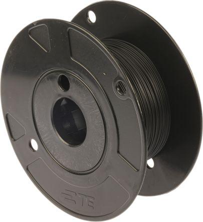 TE Connectivity Harsh Environment Wire 0.38 mm² CSA, Black 100m Reel