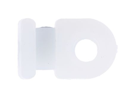 HellermannTyton Natural Cable Tie Mount 8 mm x 12.5mm, 2.6mm Max. Cable Tie Width