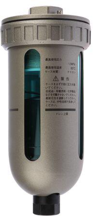 SMC Automatic Rc 1/2 400cm³/min Pneumatic Drain, 184 x 82 x 82mm