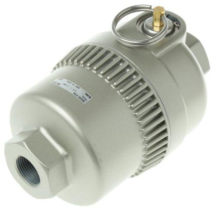 SMC Automatic G 3/4 400cm³/min Pneumatic Drain, 183 x 112 x 112mm