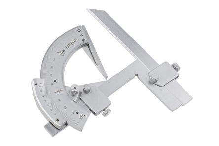 RS PRO Metric Protractor, 180° Range, 150mm Stainless Steel Blade