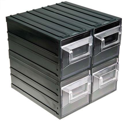 Cassettiere In Plastica Per Magazzino.Tv1000022 Cassetto Plastica Trasparente Terry 4 Cassetti 208mm