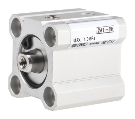 SMC Pneumatic Compact Cylinder 16mm Bore, 10mm Stroke, CQ2 Series, Single  Acting
