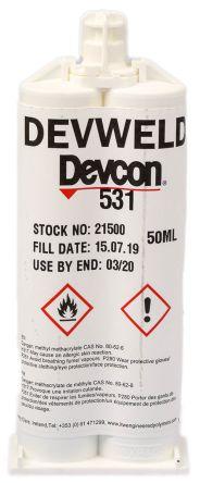 ITW Devcon Devweld 531, 50 ml Paste Acrylic Adhesive