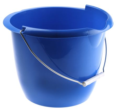 10L Plastic Blue Bucket With Handle product photo