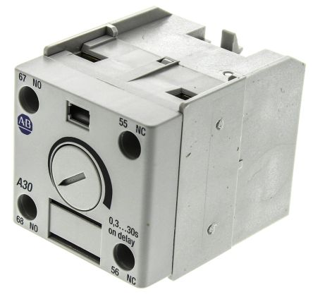 Bulletin 100-C Series Analogue (ON Delay) Pneumatic Timer, Range 0.3 -> 30s, NO/NC Contacts product photo