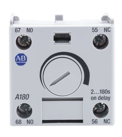 Bulletin 100-C Series Analogue (ON Delay) Pneumatic Timer, Range 1.8 -> 180s, NO/NC Contacts product photo