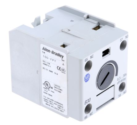 Bulletin 100-C Series Analogue (OFF Delay) Contactor Timer, Range 0.3 -> 30s, NO/NC Contacts product photo