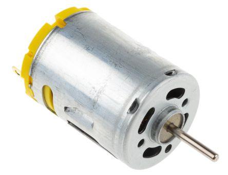RS PRO DC Motor, 19.68 W, 3  7.2 V dc, 375 gcm, 19000 rpm, 2.3mm Shaft Diameter