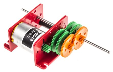 RS PRO, 3 V dc, 50 gcm, Brushed DC Geared Motor, Output Speed 2 - 2300 rpm
