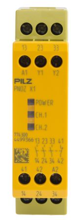 F2391033 01 pnoz x1 24vac dc 3n o 1n c pnoz x safety relay, single channel pilz pnoz x1 wiring diagram at bayanpartner.co