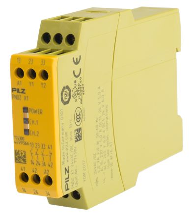 F2391033 02 pnoz x1 24vac dc 3n o 1n c pnoz x safety relay, single channel pilz pnoz x1 wiring diagram at bayanpartner.co