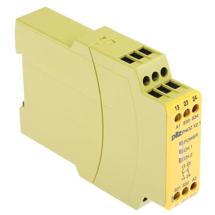 F2391055 02 pnoz x2 1 24vac dc 2n o pnoz x safety relay, dual channel, 24 v pilz pnoz x2 wiring diagram at honlapkeszites.co