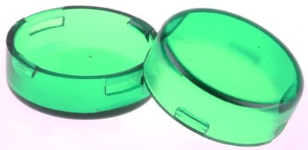 Panel Mount Indicator Lens Round Style, Green, 15mm diameter