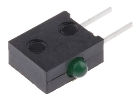 Broadcom HLMP-6500-F0010, Green Right Angle PCB LED Indicator, Through Hole 2.7 V